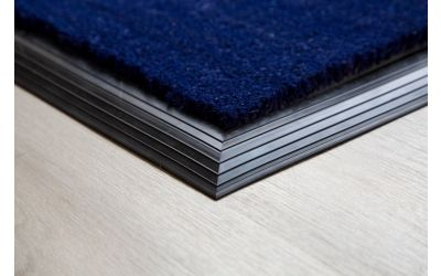 Blue Coir Entrance Mat With Rubber Edge Various Sizes