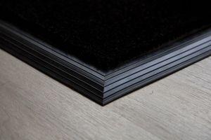 Black Coir Entrance Mat With Rubber Edge Various Sizes