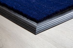 Blue Coir Entrance Mat With Rubber Edge Various Sizes