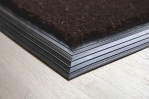 17mm Coir matting with Rubber Edge - Brown - 100 cm x 200 cm