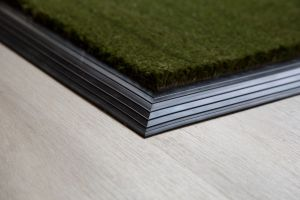 17mm Coir matting with Rubber Edge - Green - 100 cm x 200 cm