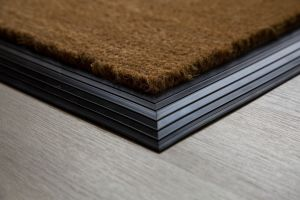 17mm Coir matting with Rubber Edge - Natural - 100 cm x 200 cm