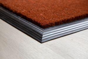 Russet Coir Entrance Mat With Rubber Edge Various Sizes