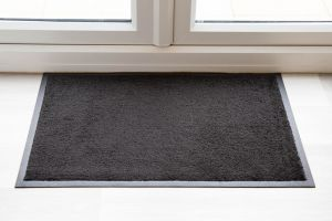 Luxury Black Throw Down Entrance Mat