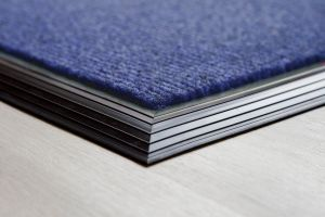 Blue Brush Entrance Mat Rubber Edge 13.5mm Made to Measure