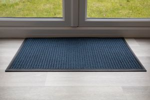 Indoor Blue Blue Throw Down Heavy Duty Matting Hard Wearing