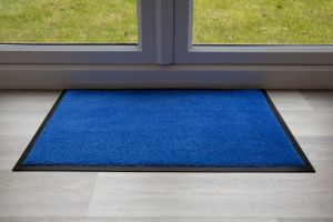 Indoor Blue Luxury Blue Entrance Throw Down Matting