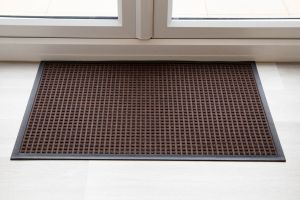Indoor Brown Brown Throw Down Heavy Duty Matting Hard Wearing