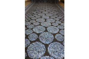Long Hallway Entrance Runner Mat Blue Rain Stepping Stones