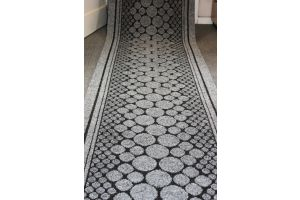 Long Hallway Entrance Runner Mat Grey Wind Stepping Stones