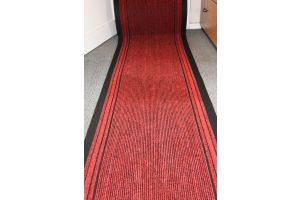 Long Hallway Entrance Runner Mat Red Fire