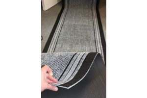 Long Hallway Entrance Runner Mat Grey Wind