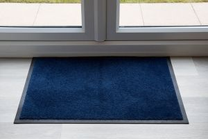 Indoor Navy Luxury Navy Entrance Throw Down Matting