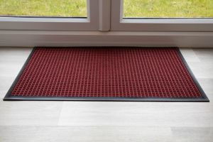 Indoor Red Red Throw Down Heavy Duty Matting Hard Wearing