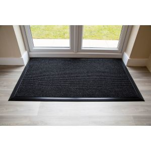 Anthracite ADEM Rib Entrance Mat 11mm Rubber Edge Made to Measure
