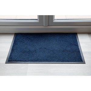 Black Blue Speckle Luxury Throw Down Entrance Mat Various Sizes
