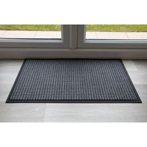 Indoor Grey Grey Throw Down Heavy Duty Matting Hard Wearing
