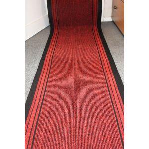 Long Hallway Entrance Runner Mat Red Fire