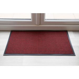 Red Throw Down Heavy Duty Mat Hard Wearing 115cm x 240cm