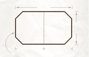 Hexagonal table diagram